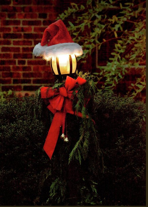 Savad Greeting Card featuring the photograph Winter - Christmas - It's Going To Be A Cold Night by Mike Savad