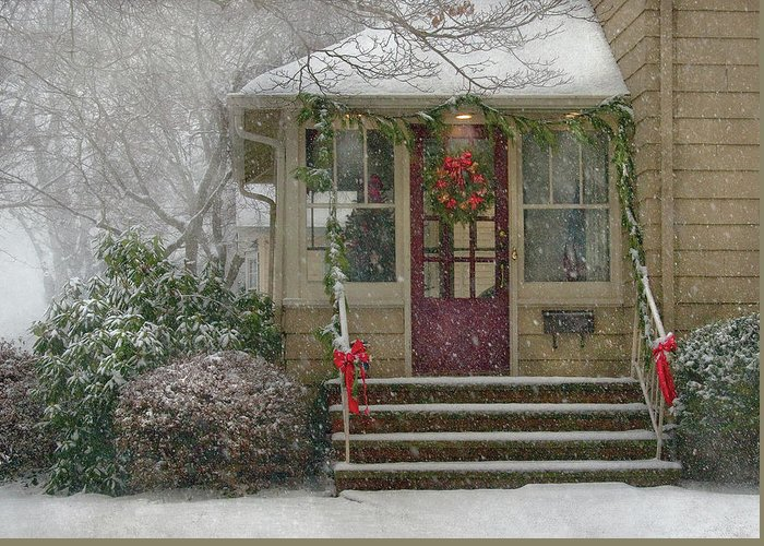 Savad Greeting Card featuring the photograph Winter - Dreaming Of A White Christmas by Mike Savad
