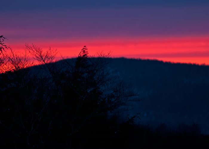 white Mountains Of New Hampshire Greeting Card featuring the photograph Winter Dusk by Paul Mangold