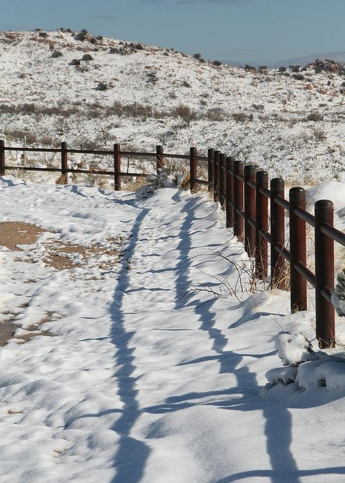 David S Reynolds Greeting Card featuring the photograph Winter Fence by David S Reynolds