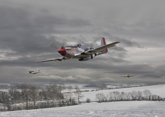 Aircraft Greeting Card featuring the digital art Winter Freedom by Pat Speirs