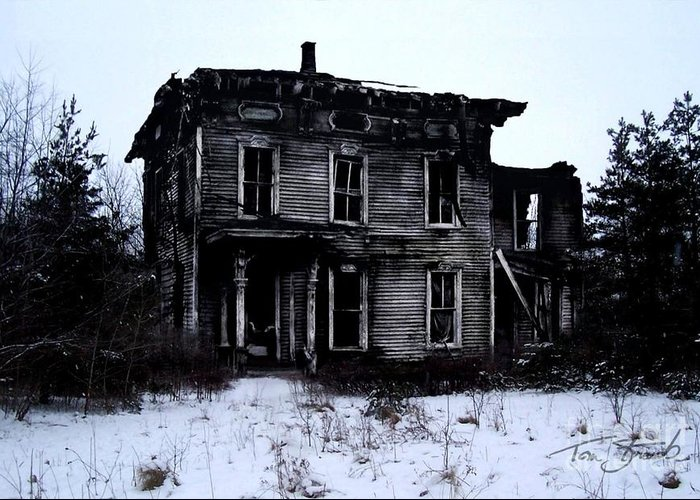 Haunted House Greeting Card featuring the photograph Winter Home by Tom Straub