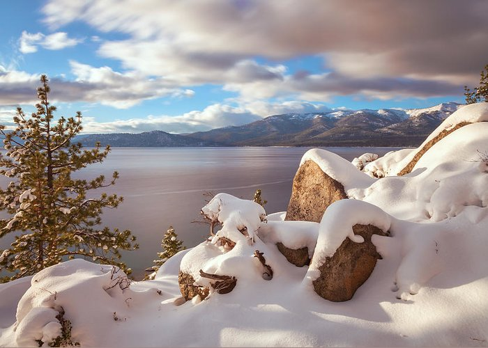 Landscape Greeting Card featuring the photograph Winter In Tahoe by Jonathan Nguyen
