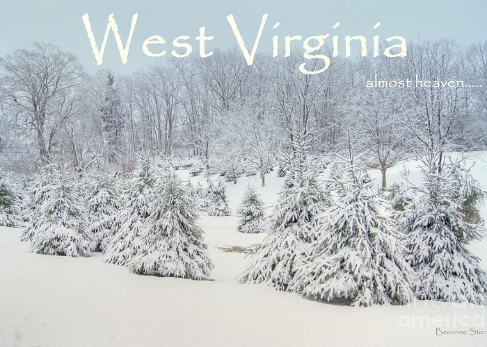 West Virginia Greeting Card featuring the photograph Winter In West Virginia by Benanne Stiens