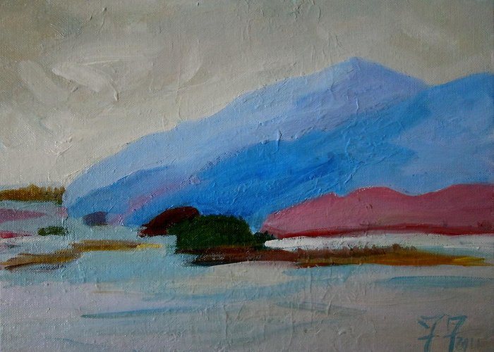Maine Greeting Card featuring the painting Winter Islands - Mdi by Francine Frank