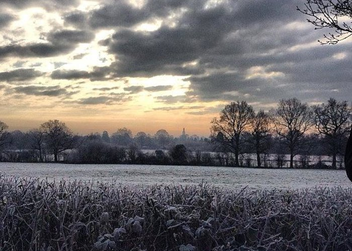 Landscape Greeting Card featuring the photograph Winter Morning In Kent by Nic Squirrell