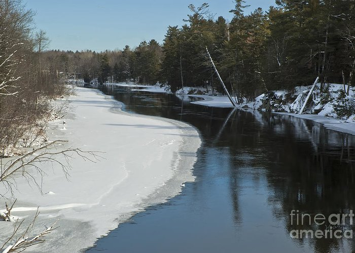 Canada Greeting Card featuring the photograph Winter River I by Jessie Parker
