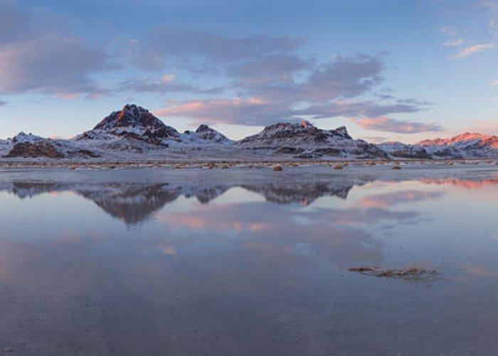 Winter Salt Flats Greeting Card featuring the photograph Winter Salt Flats by Chad Dutson