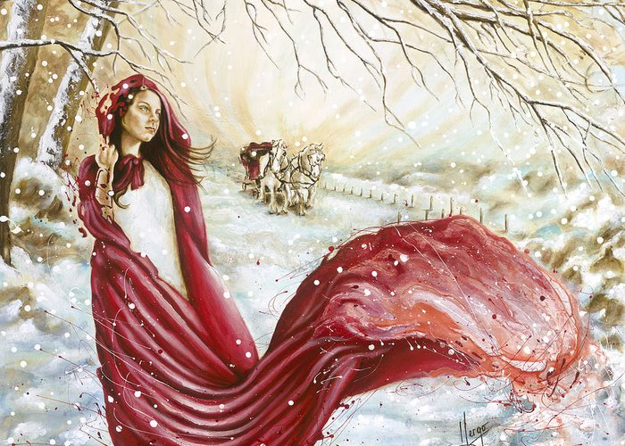 Karina Llergo Greeting Card featuring the painting Winter Scent by Karina Llergo