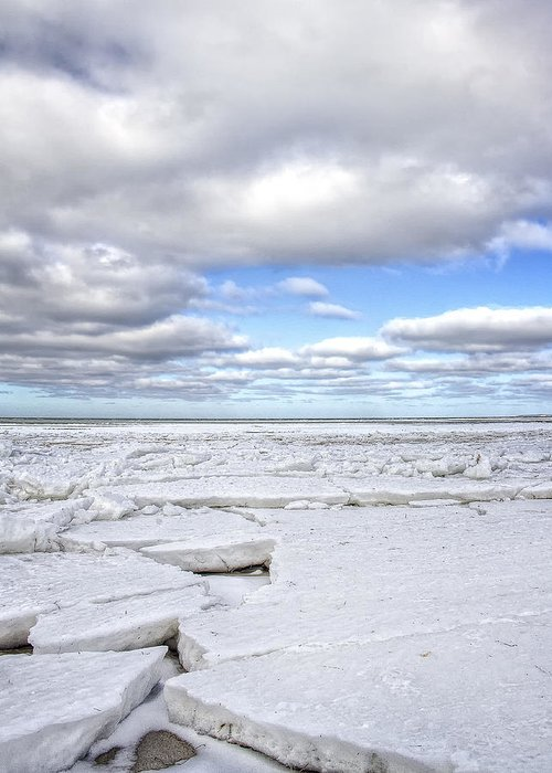 Hdr Greeting Card featuring the photograph Winter Skaket Beach by Mikael Carstanjen