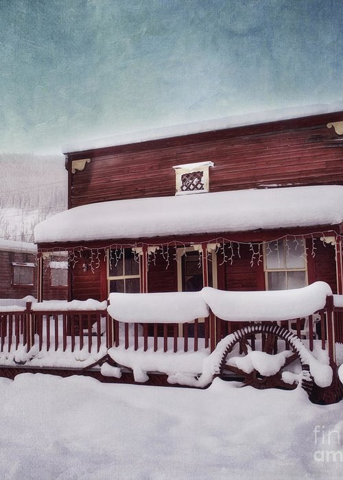 House Greeting Card featuring the photograph Winter Sleep by Priska Wettstein