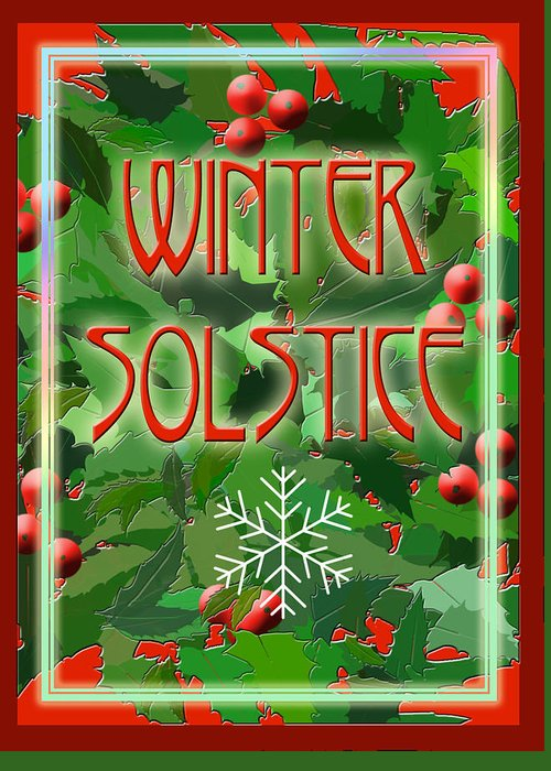 Yule Greeting Card featuring the digital art Winter Solstice by Melissa A Benson