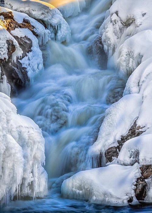 Auburn Greeting Card featuring the photograph Winter Sunrise Great Falls by Bob Orsillo