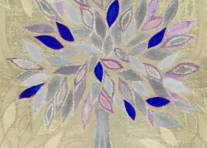 Tree Greeting Card featuring the painting Winter Tree by Barbara Moignard