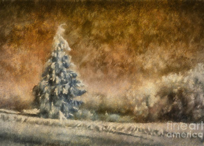 Snowy Roads Digital Art Greeting Cards
