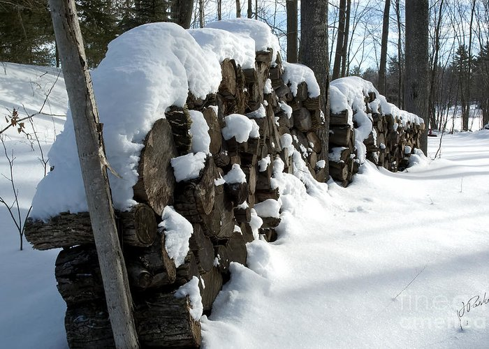 Canada Greeting Card featuring the photograph Winter Wood Supply by Jessie Parker