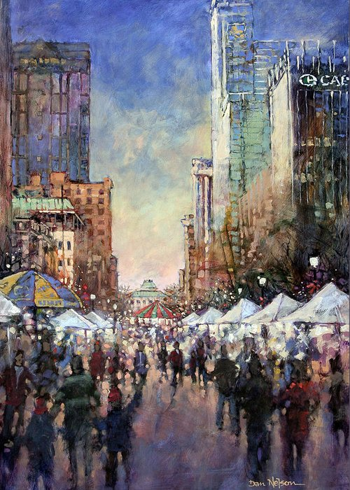 Downtown Raleigh Greeting Cards