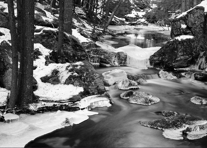 River Greeting Card featuring the photograph Winter's Grace by Luke Moore