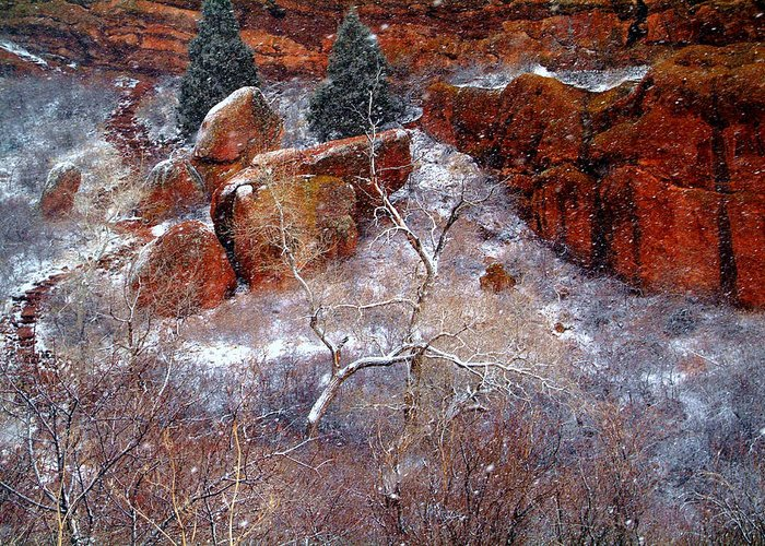 Colorado Greeting Card featuring the photograph Winters Intrigue.. by Al Swasey