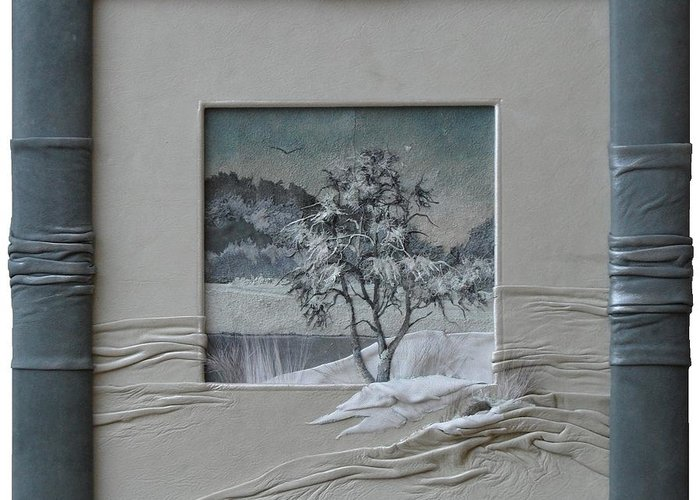 Wintry Morning Greeting Card featuring the painting Wintry Morning by Yakubouskaya Olga