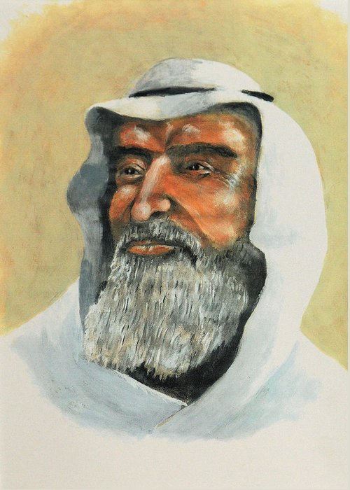 Arabs Greeting Card featuring the painting Wisdom by Art Cox