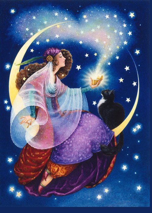 Gypsy Greeting Card featuring the painting Wishes by Lynn Bywaters