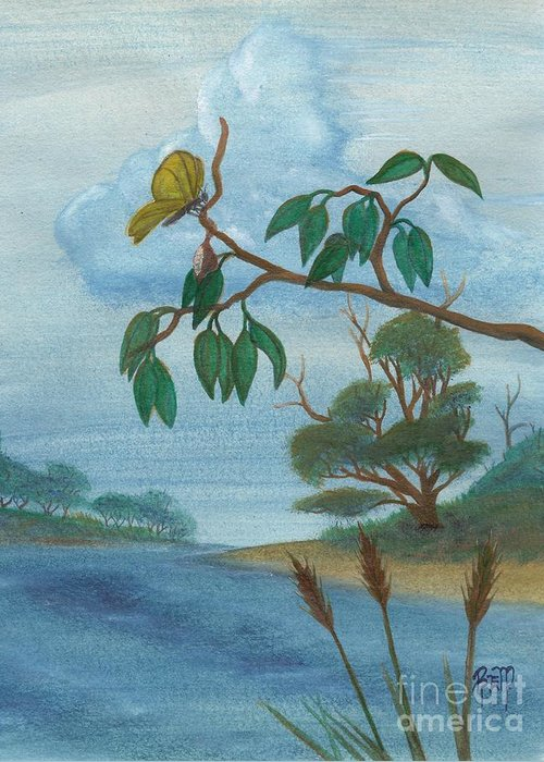Watercolor Greeting Card featuring the painting With New Wings by Robert Meszaros