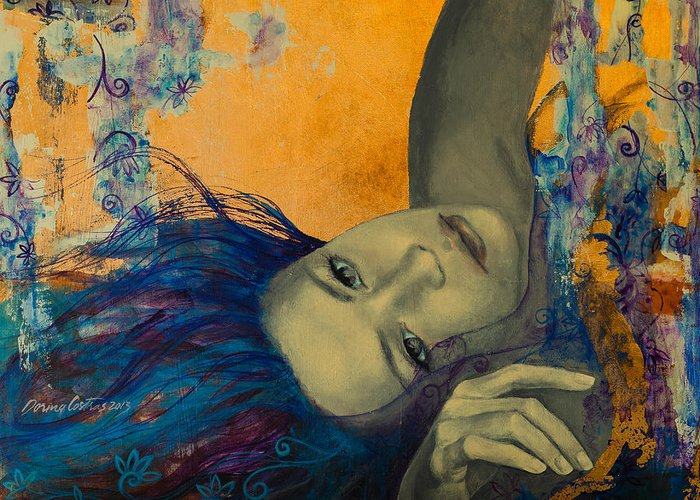 Art Greeting Card featuring the painting Within Temptation by Dorina Costras