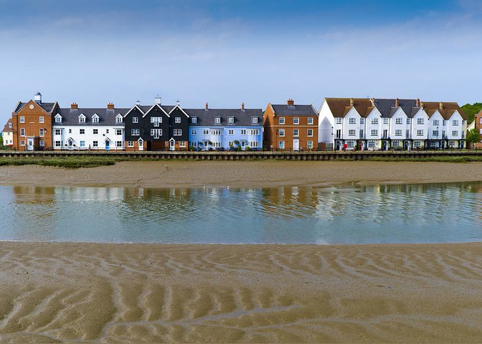 Wivenhoe Greeting Card featuring the photograph Wivenhoe Waterfront by Gary Eason
