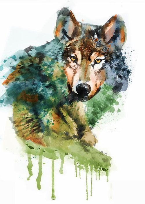 Wolf Face Greeting Cards