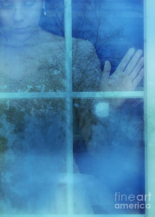 Beautiful Greeting Card featuring the photograph Woman At A Window by Jill Battaglia