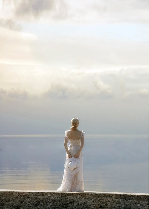 Woman Greeting Card featuring the photograph Woman At The Sea by Joana Kruse