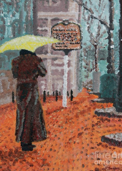 Impressionist Greeting Card featuring the painting Woman With Umbrella by Robert Yaeger