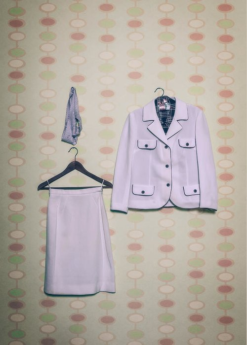 Blazer Greeting Card featuring the photograph Woman's Clothes by Joana Kruse