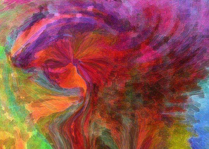 Woman Art Greeting Card featuring the digital art Women by Linda Sannuti