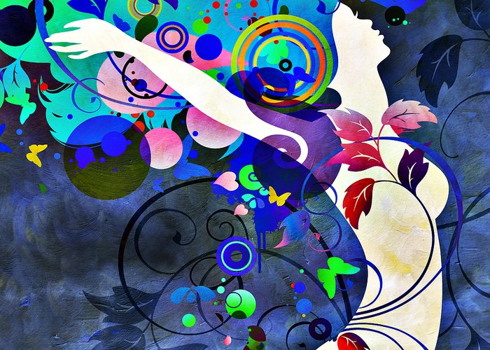 Amaze Greeting Card featuring the mixed media Wondrous Night by Angelina Vick