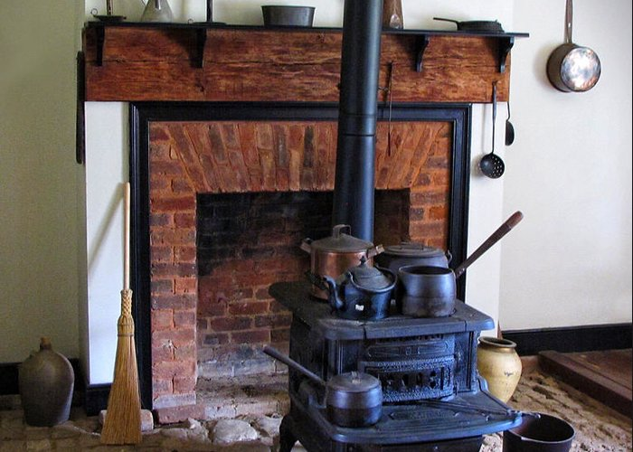 Wood Burning Stove Greeting Card featuring the photograph Wood Burning Stove by Dave Mills