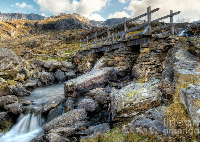 British Greeting Card featuring the photograph Wooden Bridge by Adrian Evans