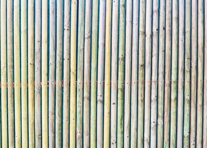 Background Greeting Card featuring the photograph Wooden Poles by Tom Gowanlock