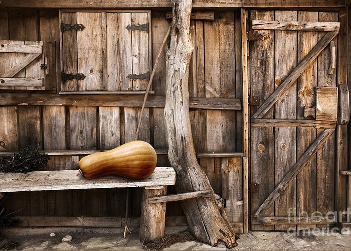 Ancient Greeting Card featuring the photograph Wooden Shack by Carlos Caetano