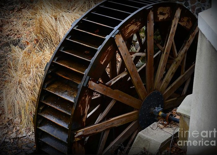 Paul Ward Greeting Card featuring the photograph Wooden Water Wheel by Paul Ward