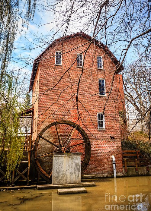 1800's Greeting Card featuring the photograph Wood's Grist Mill In Northwest Indiana by Paul Velgos