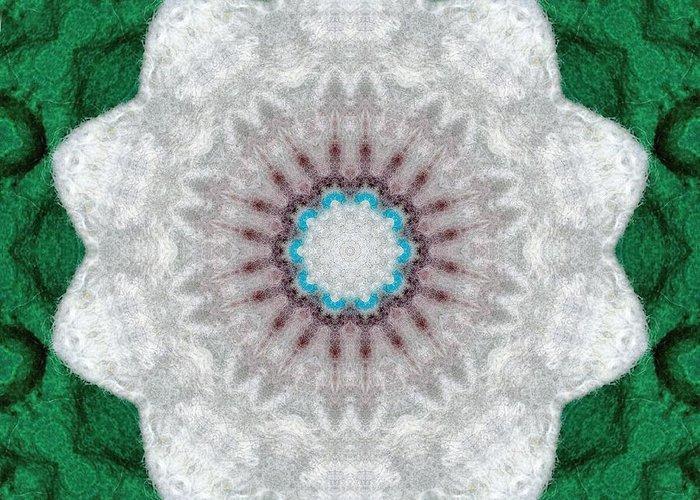 Kaleidescopic Photos Greeting Card featuring the digital art Wool Felt Kaleidoscope by Aliceann Carlton