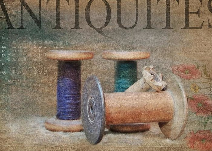 Spools Greeting Card featuring the photograph Woolrich Woolen Mill Spools by Stephanie Calhoun