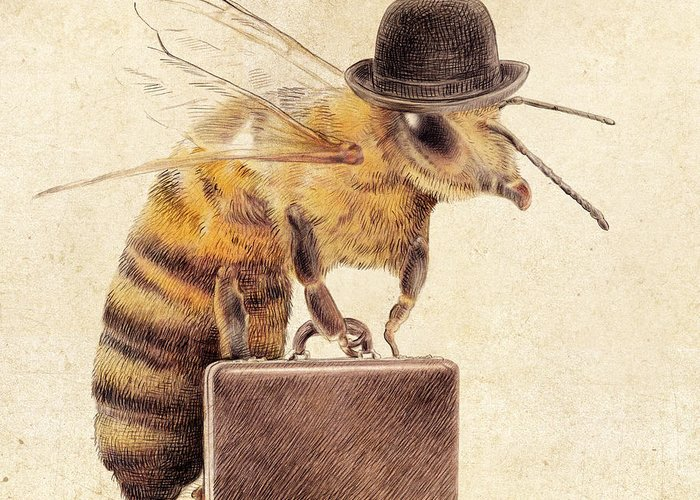 Bee Greeting Cards