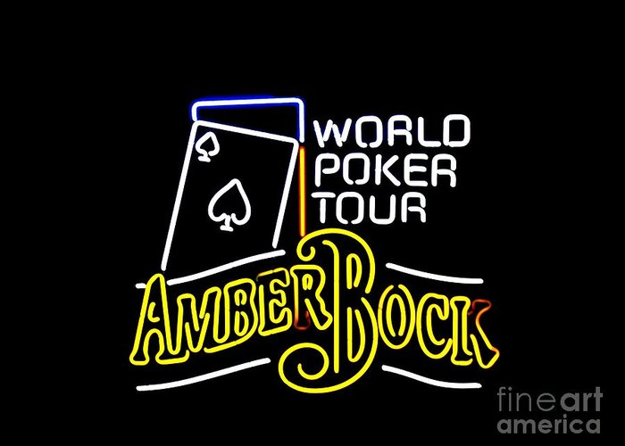 Greeting Card featuring the photograph World Poker Tour And Amber Bock by Kelly Awad