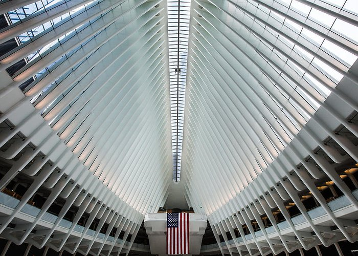 Manhattan Greeting Card featuring the photograph World Trade Center Station by Federico Cella
