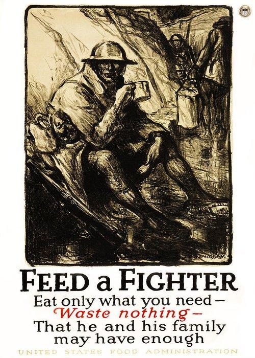 world War Greeting Card featuring the photograph World War 1 - U. S. War Poster by Daniel Hagerman