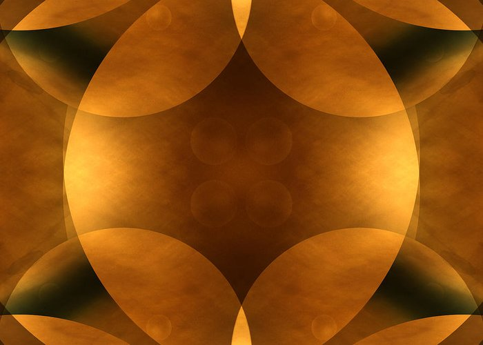 Abstract Greeting Card featuring the photograph Worlds Collide 11 by Mike McGlothlen