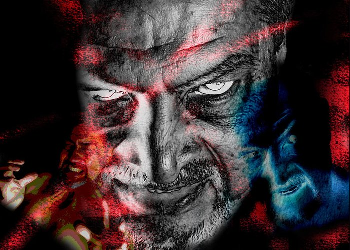Wrath Greeting Card featuring the photograph Wrath by Camille Lopez
